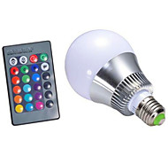 cheap -280-350 lm E26/E27 LED Smart Bulbs G95 1 leds High Power LED Dimmable Remote-Controlled RGB AC 85-265V