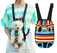 cheap -Cat Dog Carrier & Travel Backpack Front Backpack Pet Baskets Stripe Portable Breathable Stripe For Pets