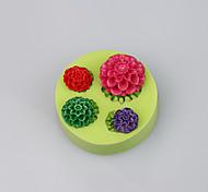 Fda lfgb милый мини силиконовая роза чашка торт шоколадная плесень fimo глина инструменты цвет случайный