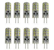 cheap -10pcs 1W 200lm G4 LED Bi-pin Lights Tube 24 LED Beads SMD 3014 Decorative Warm White Cold White 12V