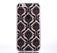 TPU Material Palace Flower Black Pattern Soft Shell Phone for iPhone 7 Plus/7/6s Plus / 6 Plus/6S/6/SE / 5s/5/5C
