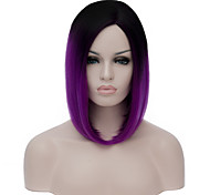 cheap -Synthetic Wig Purple Women's Capless Carnival Wig Halloween Wig Capless Wig Short Synthetic Hair