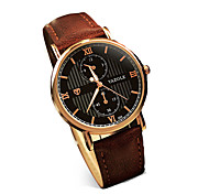 355 YAZOLE Fashion Men's Business Dress Watch Leather Strap Blue Ray Glass Noctilucent Analog Quartz Wrist Watches