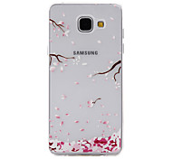 Pink Peach Pattern Material TPU Phone Case For SamsungA3(2016) A5(2016)