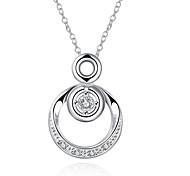 Женский Ожерелья с подвесками Синтетические драгоценные камни Стерлинговое серебро Серебрянное покрытие Сплав Мода европейский Бижутерия