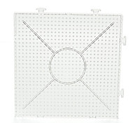 1PCS Template Clear General Linkable Large Pegboard 15*15cm Square for 5mm Hama Beads Perler Beads Fuse Beads