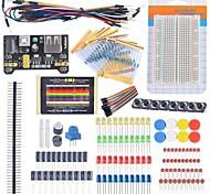 cheap -Starter Beginner Kit Breadboard Cable Resistor Capacitor LED Potentiometer for Arduino Learning Kit