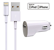 Kit caricabatterie Caricabatteria da auto Other 1 porta USB con cavo For iPhone(5V , 1A)