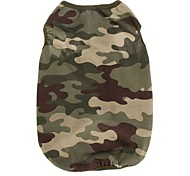 Cotton Cool Camouflage Green Pink Vest for Pets Dogs Dog Clothing