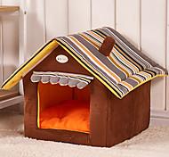 Кошка Собака Кровати Животные Коврики и подушки Мультипликация Складной Мягкий Желтый Кофейный Зеленый