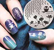 manicure coruja de noite padrão de modelo de impressão