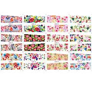 12 Designs/Set Beauty Flower Nail Sticker Nail Wraps Women Makeup Nail Decorations Watermark Tips BN097-108