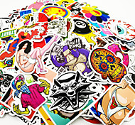 cheap -ZIQIAO 500 Pcs/ Pack Random Music Film Vinyl Skateboard Guitar Travel Case Sticker Car Decal Cute Stickers