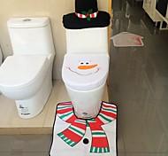 крышка фланели сиденье качество& коврик для ног бак водяная подушка комплект крышек полотенце ванной себе Санта-Клауса рождественские