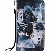Para la galaxia a5 de Samsung (2016) caja del teléfono de la pu de la pintura del mago de la cubierta del caso de a3 (2016)
