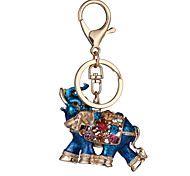 cheap -Keychain Jewelry Red Blue Rhinestone Gold Plated Alloy Personalized Geometric Unique Design Animal Design Euramerican Fashion Unisex