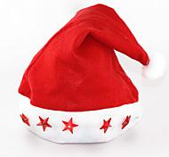 12шт / серия с наступающим Новым годом / Принадлежности для Рождества шляпу электронный свет вверх крышка пятизвездочная светящаяся лампа