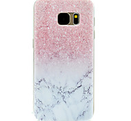 Pink Marble Pattern TPU High Purity Translucent Openwork Soft Phone Case for Samsung Galaxy S7 Edge S7 S5 S5MINI