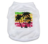 cheap -Beauty Cool New Design Spring Summer Lovely Coconut Trees Cotton Single Jersey Vests Pet Clothing