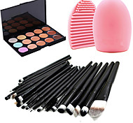 cheap -15 Concealer/Contour+Concealer Brush Egg & Cleaners Makeup Brushes Wet Matte Shimmer Eye Face Lip Whitening Moisture Coverage Oil-control