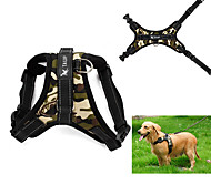 cheap -Dog Harness Adjustable / Retractable Vest Leopard Camouflage Fabric Black Red Camouflage Color Leopard