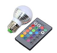 E14 E26/E27 LED Globe Bulbs G45 1 High Power LED 250lm RGB RGB K Dimmable Remote-Controlled Decorative