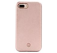 Недорогие -Для Кейс для iPhone 7 Кейс для iPhone 6 Кейс для iPhone 5 Чехлы панели LED Задняя крышка Кейс для Один цвет Твердый PC для AppleiPhone 7