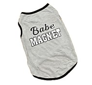 Cute Grey Babe Magnet Shirt Vest Summer Dog Clothes for Pets