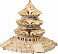Пазлы Деревянные пазлы Строительные блоки DIY игрушки китайской архитектуры 1 Дерево Со стразами