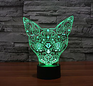 Cat Touch Dimming 3D LED Night Light 7Colorful Decoration Atmosphere Lamp Novelty Lighting Christmas Light