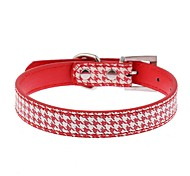 Dog Collar Adjustable / Retractable Hands free Casual Geometic PU Leather Black Red Blue
