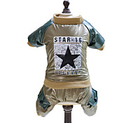 Dog Jumpsuit Dog Clothes Fashion Stars Gold Green Costume For Pets