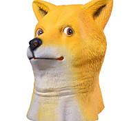 Маски на Хэллоуин Животная маска Игрушки Голова собаки сиба-ину Тема ужаса 1 Куски Halloween Маскарад Подарок