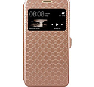 For Huawei Case / P9 Lite Card Holder / with Stand / with Windows / Flip Case Full Body Case Geometric Pattern Hard PU Leather Huawei