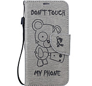 For Samsung Galaxy S7 S6 edge Winnie The Pattern Pu Leather Material Embossed Mobile Phone Holster
