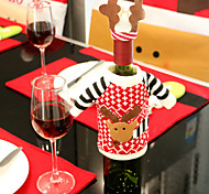 2pcs Wine Bottle Covers Sets Christmas Party Santa Claus Cap clothes for Bottle Xmas Gift Red New Year Home Decoration