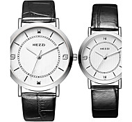 cheap -Kezzi Couple's Fashion Quartz Casual Watch Simple Personality Round Alloy Dial Watch Cool Watch Unique Watch