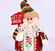 Santa Claus  Christmas Decorations Snowman Elk Doll Furnishing Articles  Pattern Is Random