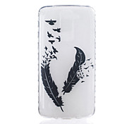 For LG K7 K8 Feather Pattern Tpu Material Highly Transparent Phone Case For LG K7 K8 K10 G5