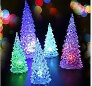 Недорогие -2pcs новогодняя елка рождественские мини светодиодный свет красочный ночник (случайный цвет)