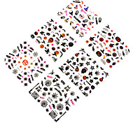 12pcs Halloween Spider Network Places 3D Nail Decals Accessories Environmental Beijiao