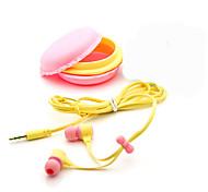 Недорогие -3,5 мм высокого качества подарок на день рождения Macaron наушники наушники гарнитуры