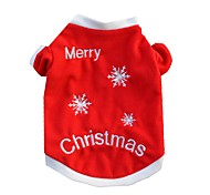 Cat Dog Shirt / T-Shirt Dog Clothes Casual/Daily Christmas Snowflake Red Costume For Pets