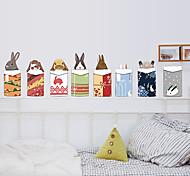 Merry Christmas Creative DIY Rabbits Wall Stickers PVC Environmental Living Room Wall Decals