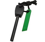 FURA Outdoor Magnesium Alloy Flintstone Fire Starter with Scraper - Black (L-Size / Dual-Core)