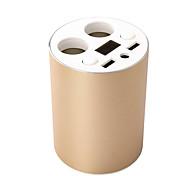 Недорогие -оригинальный двойной USB портов Автомобильное зарядное устройство держатель держатель чашки с 2 розетки напряжение постоянного тока