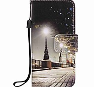 City Scenery Painting PU Phone Case for apple iTouch 5 6 iPod Cases/Covers