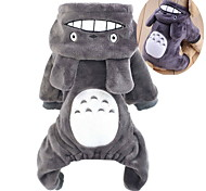 Cat Dog Costume Hoodie Jumpsuit Dog Clothes Polar Fleece Winter Spring/Fall Cute Cosplay Cartoon Gray Rose Brown Costume For Pets