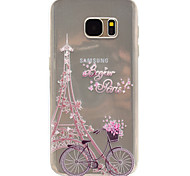 Cycling Tower Pattern TPU High Purity Translucent Openwork Soft Phone Case for Samsung Galaxy S7 Edge S7 S5 S5MINI