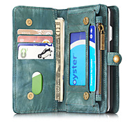 cheap -Case For Apple iPhone 8 iPhone 8 Plus iPhone 6 iPhone 7 Plus iPhone 7 Card Holder Wallet Shockproof Flip Full Body Cases Solid Color Hard